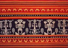 Ceremonial panel from Sumba. Ikat cloth is made in many scattered regions of the Indonesian Archipelago Pattern Paper, Pattern Art, Pattern Design, Textile Design, Textile Art, Embroidery Motifs, Clothing And Textile, Weaving Patterns, Repeating Patterns