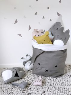 Fabelab knuffel/kussen Pirate Bunny