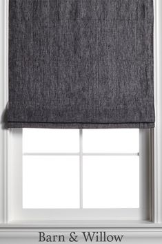 Shale Roman Shade in a chic flat style. Made of premium Belgian Flax Linen, this custom window shade is hand-stitched by expert hands. Window Coverings, Window Treatments, Custom Roman Shades, Flat Style, Fashion Flats, Hands, Windows, Curtains, Chic