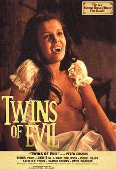 Twins of Evil. Hammer Horror Films, Hammer Films, Female Vampire, Vampire Girls, Sexy Horror, Horror Art, Film Movie, 1 Film, Movie 21
