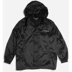 BALENCIAGA Boxy Windbreaker Coat ($790) ❤ liked on Polyvore featuring outerwear, coats, jackets, balenciaga, wind breaker jacket, wind jacket, boxy coat and windbreaker jacket