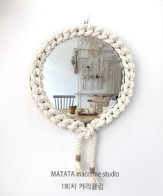 Macrame wall decoration - My Website 2020 Macrame Mirror, Macrame Art, Macrame Projects, Macrame Knots, Metal Wall Decor, Metal Wall Art, Roman Clock, Diy Jewelry Rings, Macrame Wall Hanging Patterns