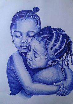 African Fashion Is Hot Black Love Art, Black Girl Art, Art Girl, African American Art, African Art, African Women, Arte Black, Black Art Pictures, Art Africain