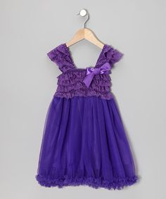 Take a look at this Purple Ruffle Babydoll Dress - Toddler & Girls by Tutus by Tutu AND Lulu on #zulily today!