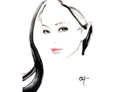 水墨画スタイルの美人画、水彩画で世界各国の広告を手掛けるアーティスト。 Portrait Artist and Watercolorist with Traditional Japanese Painting Techniques.