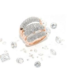 18k white and rose gold 5ct diamond ring custom made by Gary's Jewelry. #diva #glamour #princess #rockstar #glam #highclass #diamonds #gold #luxury #18kring #jewelry #custommade #artistry #fashionring #fashionista #couture #diamondsareagirlsbestfriend #bling #diamondsareforever #star #moviestar #goldring #jewelrybygary #garysjewelry #buyatgarysjewelry #rosegold # whitegold