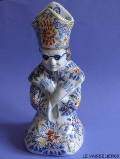 ANTIQUE PRIEST DELFT candlestick 19 th Century   eBay