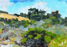 "Daily Paintworks - ""Laguna Canyon Landscape"" - Original Fine Art for Sale - © Kevin Inman"