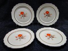 George Pinecone Salad Plates Set Of 4 MINT W.S