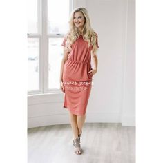 """This simple dress can be dressed up, or dressed down and can be styled endless ways. Features loose short sleeves, an elastic waist and of course front pockets, you are going to love this Simplicity Dress!Total Length: XS-S: 39""""M-L: 39.5""""XL: 40""""63% Modal 37% PolyesterAmanda is a size 0/2, 5'8"""" and is wearing the XSSpecificationsAlphaXXSXSSMLXLXXL Numeric000 - 24 - 68 - 1012 - 141618 - 20  Bust30½ - 31½32 - 3333½ - 3536 - 3840 - 4243½ - 44½46 - 47 Waist23 - 2424½ -..."""