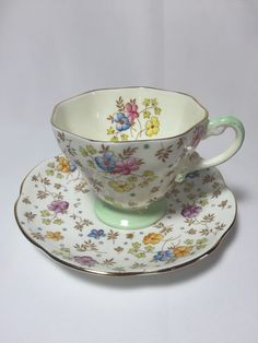 A personal favorite from my Etsy shop https://www.etsy.com/ca/listing/250520077/eb-foley-vintage-tea-cupblue-pink-and