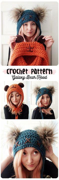 Super cute ewok hat crochet pattern! #crochetbear