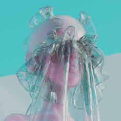 """2,174 curtidas, 11 comentários - Josefin Jonsson (@pastelae) no Instagram: """"Clear plastic cheap frills fills my clear plastic beat heart"""" Battle City, Invert Colors, Animation Reference, Cinema 4d, Vaporwave, Goblin, Plastic, Psychedelic, Cyber"""