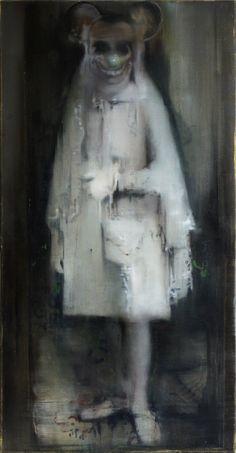 Jacqueline Devreux, La Communiante, Öl auf Leinwand, 180 x 135 cm, 2010
