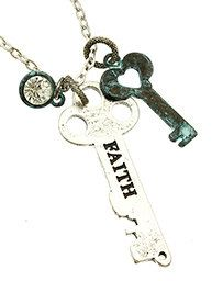 A personal favorite from my Etsy shop https://www.etsy.com/listing/219179934/28-inch-long-faith-key-chain-link