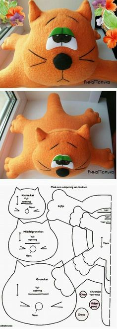 Amazing Home Sewing Crafts Ideas. Incredible Home Sewing Crafts Ideas. Sewing Toys, Sewing Crafts, Sewing Projects, Sewing Stuffed Animals, Stuffed Animal Patterns, Fabric Toys, Sock Animals, Felt Cat, Cat Pattern