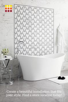 Create a beautiful bathroom tile installation that fits your style.  Bathroom Tile Installation, Bathroom Flooring, Master Bath Remodel, Master Bathroom, Interior Design Kitchen, Bathroom Interior, Wall Exterior, The Tile Shop, Bathroom Tile Designs