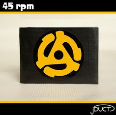 45 rpm Duct Tape Wallet  by jDUCT by jDUCT on Etsy, $22.00