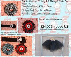 Dr Seuss Thing One Thing Two Tutu Set https://www.facebook.com/media/set/?set=a.471349972907808.102611.188607921182016=3#!/photo.php?fbid=501615689881236=a.471349972907808.102611.188607921182016=3