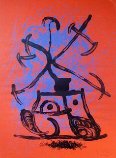 Joan Miro - The Red Entertainer - Gilden's Arts Gallery