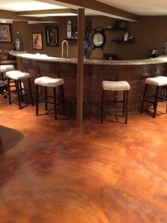 19 best stained concrete for your home s interior images concrete rh pinterest com