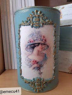 Decoupage, Altered Boxes, Gisele, Medium Art, Mixed Media Art, Container, Vase, Bottles, Recycle Cans