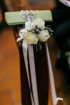 Umbria wedding, decoro per i banchi