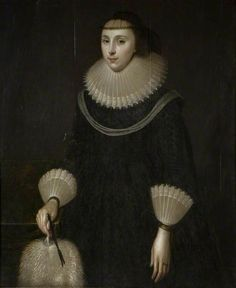 Portrait of a Lady with a Fan British School Birmingham Museums Trust