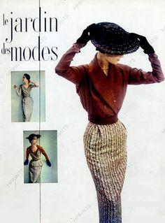 1950 Le Jardin des Modes. Schiaparelli