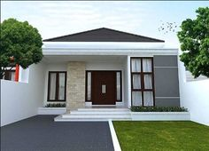 small house elevation painting with house paint wall painting and main entrance door design sri lanka Classic House Design, Minimalist House Design, Minimalist Living, Minimalist Interior, Front Elevation Designs, House Elevation, Garden Home Office, Bungalow Haus Design, Houses In Ireland