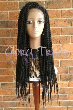 ON SALE// Senegalese Twists Braided Lace Front Wig by GloryTress