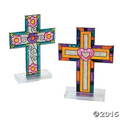 Cross Sun Catcher with Stand - Oriental Trading