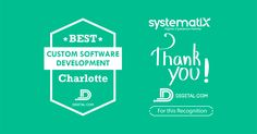 """Within our 15-years business journey, we focused on delivering the solutions that help companies lead the way forward. We work closely with our clients to ensure that their business runs smoothly, saves on operations, and progresses using our solutions. Today, we are recognized as """"One of the Best Custom Software Developers in Charlotte"""" by Digital.com. We are happy and proud! For more information about the awards, read the article here Lead The Way, Software Development, 15 Years, Online Business, Awards, Charlotte, Journey, Names, Digital"""