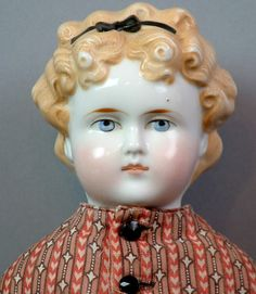 """*Rare & Regal* 20"""" Blond China Child Doll 'Dolly Maddison' Character GREAT COND!"""