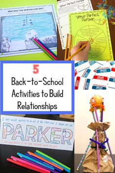 Make the beginning of school meaningful with these activities to build relationships in the classroom. These activities help you to become more empathetic to the needs of your students, so that you can do the best at your job as a teacher! We're in this together! Get To Know You Activities, Back To School Activities, School Games, School Resources, Writing Activities, Middle School Classroom, Meet The Teacher, Stem Challenges, Classroom Community