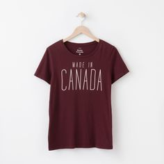 Made In Canada T Shirt Roots T Shirt Fashion Source by clothes canada Canada Day Shirts, Kids Clothing Canada, Roots Clothing, Baby Boy Fashionista, Fall Outfits, Kids Outfits, Travel Shirts, Fashion Tights, Sweater Shirt