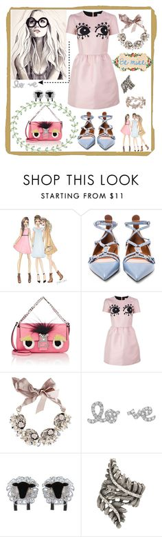 """""""be mine"""" by marcellakretsch ❤ liked on Polyvore featuring American Vintage, Valentino, Fendi, RED Valentino, Gabriele Frantzen, maurices, Vintage, women's clothing, women and female"""