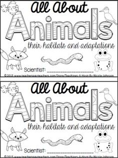 nice cool awesome All About Animals NGSS mini-book. Primary Science, Kindergarten Science, Elementary Science, Science Classroom, Teaching Science, Science Activities, Science Ideas, Preschool, Elementary Schools