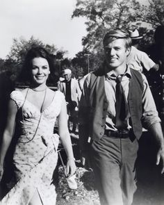 Robert Redford and Natalie Wood ....on the set of 'This Property is Condemned' (1966)