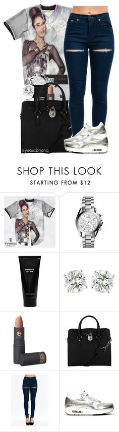 """""""slim thick witcho cute ahh"""" by yeauxbriana ❤ liked on Polyvore featuring mode, Michael Kors, Witchery, Lipstick Queen, NIKE, Michelle Lee, women's clothing, women, female en woman"""