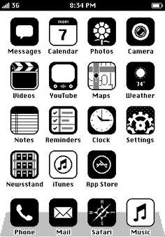 b/w iOS