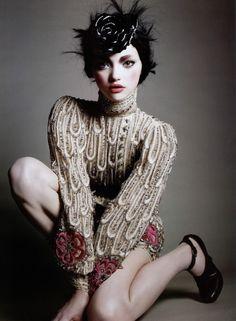 Gemma Ward for Vogue France (Sep 2005) photo shoot by David Sims