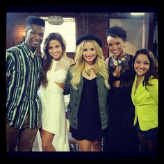 Demi with her contestants