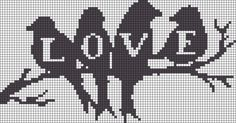 LOVE perler bead pattern