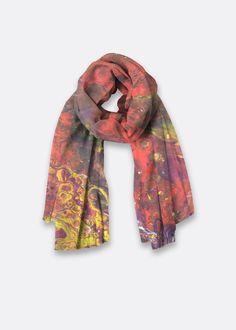 Oversized Merino Wool Scarf - Merino Orange Blossum by VIDA VIDA ge8Xjm0B