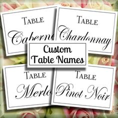 Art deco script reserved wedding signs set of 4 printable instant customized table name signs digital diy signs printable download customized do it yourself 007 solutioingenieria Image collections