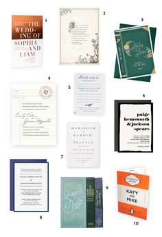 Literary-Inspired Wedding Invitations Perfect for Book-Loving Couples