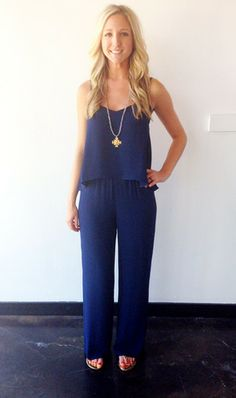 b8e8b36c00a The BEST Jumpsuit now in Navy!  118. POSH BOUTIQUE