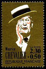 Maurice Chevalier La chanson française - Timbre de 1990