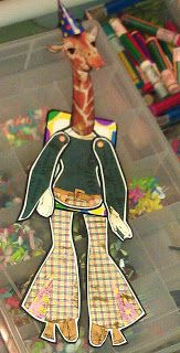 THINGS ALTERED: Just having fun making silly ATC art dolls.........